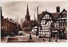 Worcestershire postcard ST JOHN'S STREET, BROMSGROVE  1940's by Valentines