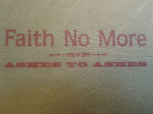 Faith No More - Ashes To Ashes CD single 1997 MINT & RARE cd2 of 2 Embosed card