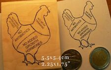 P64 Chicken meat rubber stamp