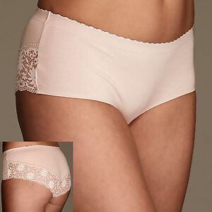 M&S FAWN BRIEFS SHORTS WITH LACE BACK SIZE 14