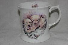 Mug Tasse à café  Dandy Lines Labrador Puppies  Fine Bone China