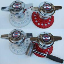 Lowrider hydraulics zenith style knock-offs 2-bars & adapter & emblem set