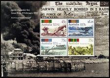 1992 Under Fire Darwin Minisheet ANZAC Stamps Mint Australia