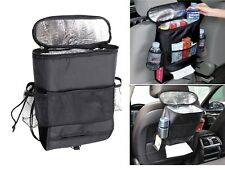 Car Organiser  Cooler Bag Back Seat Tidy Hot/Cold InsulatedTissue Drinks Holder