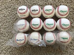 Lot of 12 New Leather Diamond Wilson Baseballs Little League Practice Batting
