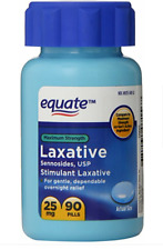 Equate Maximum Strength Laxative Pills, 25mg, 90 Count -NEW-
