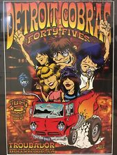 """Rare Dirty Donny- Detroit Cobras Poster-12"""" X 17.5"""" -Signed by Artist"""