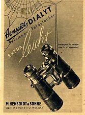 HENSOLDT & söhne wetzlar Dialyt-terrestre historique la publicité des années 40er