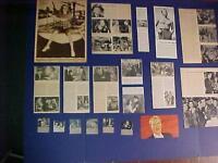 VINTAGE MOVIE STAR PHOTO ARTICLES LOT Allyson Bette Davis ++ Antique ORIG 1940's