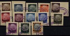 Gestempelte Briefmarken aus dem Generalgouvernement (bis 1945) als Satz