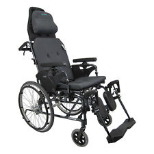 "Karman MVP502 Aluminum Ultra Compact Recliner Wheelchair 20"",Diamond Black Frame"