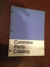 CUMMINS PARTS MANUAL CATALOG DIESEL ENGINE VR6 180 CI  TRUCK SEMI USED