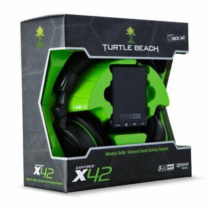Turtle Beach Ear Force X42 Black/Green Headband Headsets for Microsoft Xbox 360
