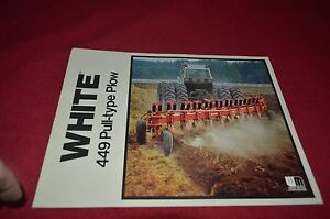 White Tractor 449 Pull Type Plow Dealers Brochure YABE10