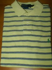 Men's Polo Ralph Lauren*Rugby Polo*Short Sleeve* Yellow/Blue * Sm.Custom Fit