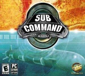 SUB COMMAND  Seawolf 688(I) Akula   PC Submarine Simulation   Vista 7 8 10  NEW