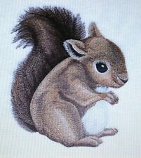 Sweet Baby Squirrel Kids Set Hand Towels Embroidered Adorable
