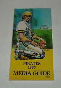 1985 PITTSBURG PIRATES OFFICIAL MEDIA GUIDE BOOK MLB BASEBALL TONY PENA