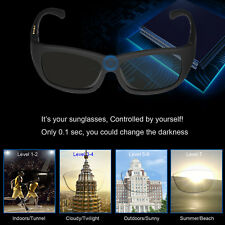 af7b6ac8e1 LCD Sunglasses Polarized Men Electronic Tinting Adjustable Liquid Crystal  lenses