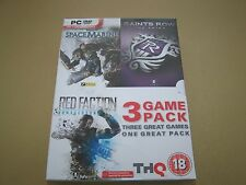 Warhammer 40,000: Space Marine/Red Faction/Saints Row PC **New & Sealed**
