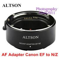 ALTSON Auto Focus Adaptor CEF-NZ for Canon EOS EF Lens to Nikon Z Z6 Z7 Camera