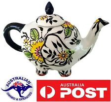 Elephant Collectable Ceramic Novelty Tea pot Teapot Animal hand painted gift