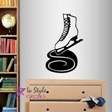 Vinyl Decal Ice Skates Figure Skating Ice Skating Sports Wall Art Sticker 1300