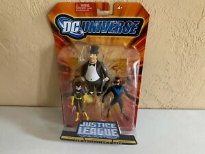 DC Universe Justice League Unlimited 3pk Batgirl The Penguin Nightwing