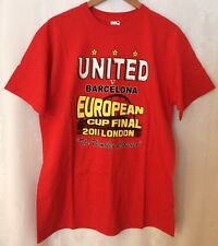 Manchester United T Shirt 2011 Copa Europea final Man Utd V Barcelona