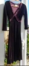 100% Silk Velvet Dress Chiffon Trim  Handmade S BELLAJU 1970sVibe  Boho Chic