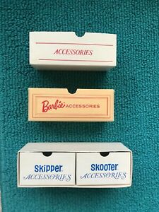 Vintage Barbie Skipper Skooter ACCESSORY BOXES / DRAWERS - EUC