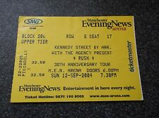 RUSH  TICKET  STUB MANCHESTER ARENA 12th  SEPT  2004