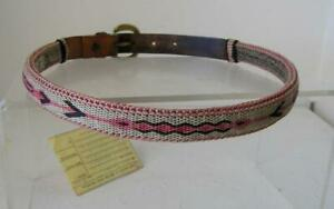 Hand Hitched Horse Hair Belt Montana State Prison certificate Women's sz 32 RARE