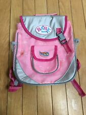 Zapf Baby Born Doll Pink Changing Backpack