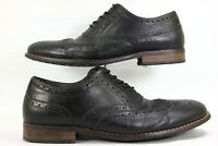 Nunn Bush Men's  Wingtip Oxford Genuine Leather Black 10 M 84637-001