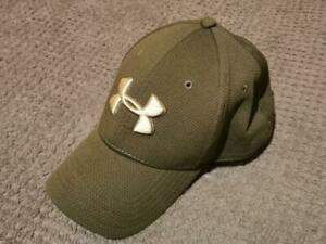 GENUINE ARMY GREEN UNDER ARMOUR CAP - ADULT M/L - UA CLASSIC FIT - FREE UK POST