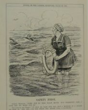 "7x10"" punch cartoon 1924 SAFETY FIRST german loan / finance / banks"