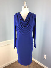 JONES NEW YORK Royal Blue Sheath Stretch Dress S 4 EUC Career cocktail long slv