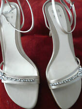 MARKS & SPENCER DIAMANTE BEADED LEATHER SANDALS SHOES sz6 WEDDING BRIDAL BNEW
