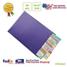 #6 14 x 17 inch 2.0 MIL Poly Mailers Shipping Envelopes Packaging Bags, Violet