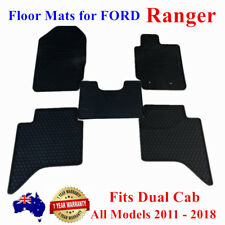 Waterproof Rubber Floor Mats Customized For Ford Ranger Dual Cab PX PX2 11 - 18