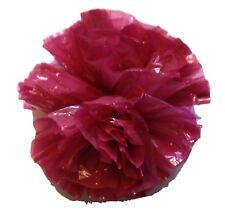 "25 Car Limo wedding Decoration Plastic Pom Poms Flower 4"" - burgundy"
