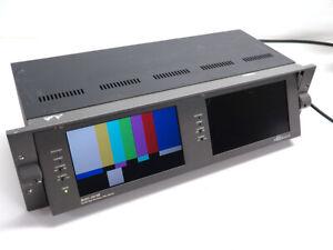 "Wohler Panorama MON2-3W/HR dual 7"" HD-SDI video monitor - one broken screen"