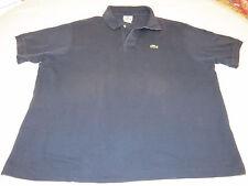 LaCoste 8 polo knit short sleeve polo shirt Mens gator navy blue cotton EUC@