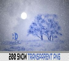 200 WINTER SNOW TRANSPARENT PNG DIGITAL PHOTOSHOP OVERLAYS BACKDROPS BACKGROUNDS