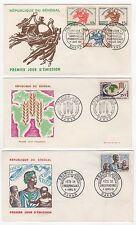 Sénégal  6 FDC enveloppes timbres 1er jour /FDC129