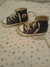 Baby converse all star navy blue lace up high top trainers canvas infant 5