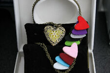 Perfume   Aroma  Scent Heart Locket Brass Necklace