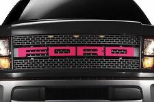 Ford F150 SVT Raptor 2010-2014 Custom Vinyl Decal Kit Grille Letter Overlay Pink