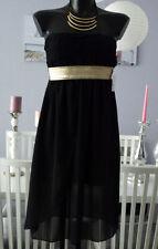 Vestiti da donna abito fascia nero senza maniche